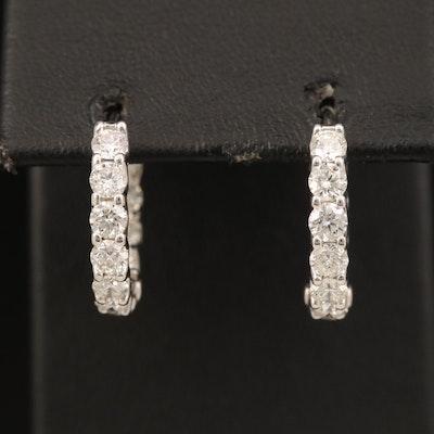 18K 2.92 CTW Diamond Inside-Out Hoop Earrings