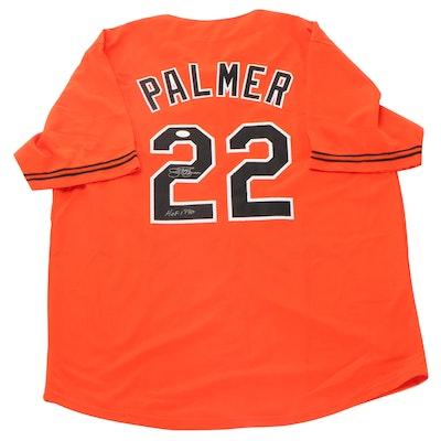 "Jim Palmer Signed ""HOF 1990"" Baltimore Orioles Replica Baseball Jersey, JSA COA"