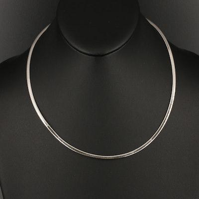 Italian 14K Reversible Omega Chain Necklace