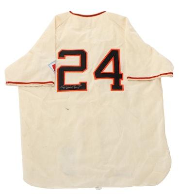 Willie Mays Signed 1951 New York Giants Replica Baseball Jersey, JSA COA