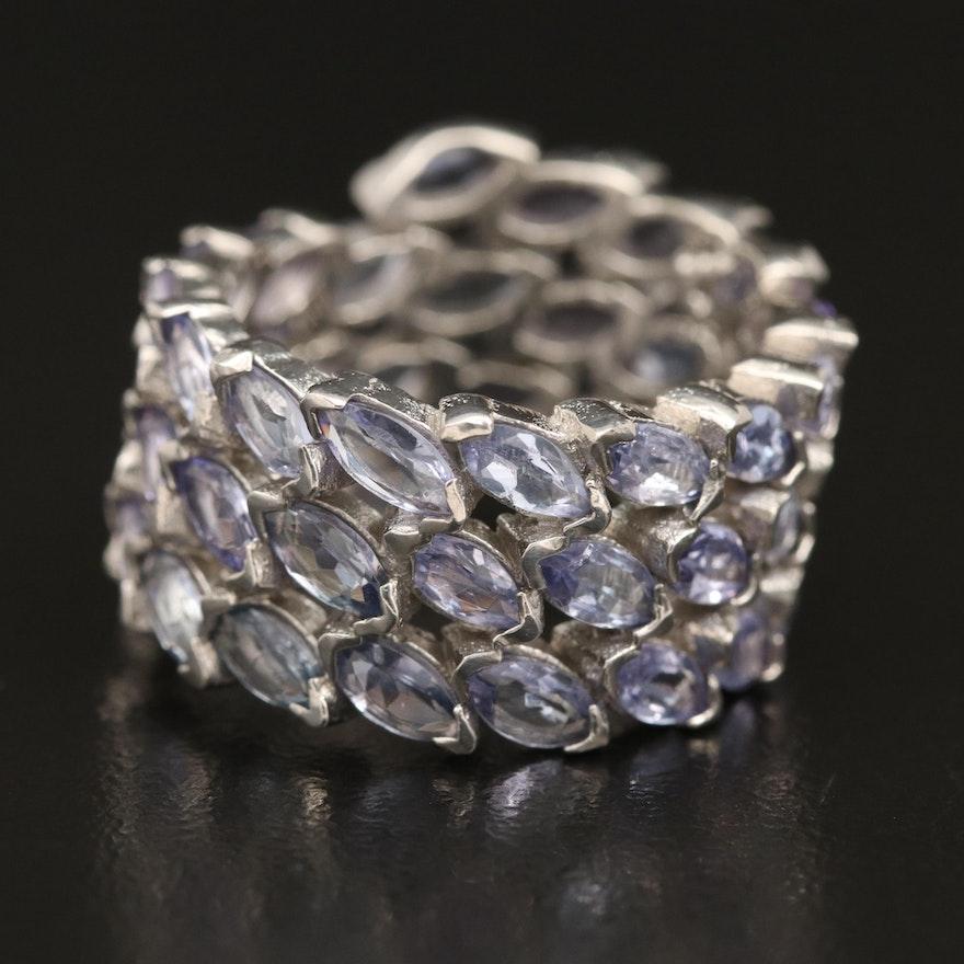 Sterling Silver Tanzanite Wrap Ring