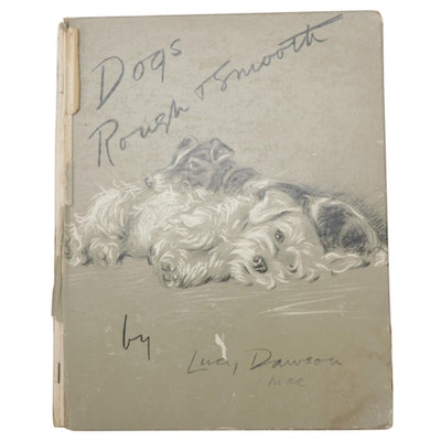 """Illustrated """"Dogs, Rough and Smooth"""" by Lucy Dawson, Mid-20th Century"""