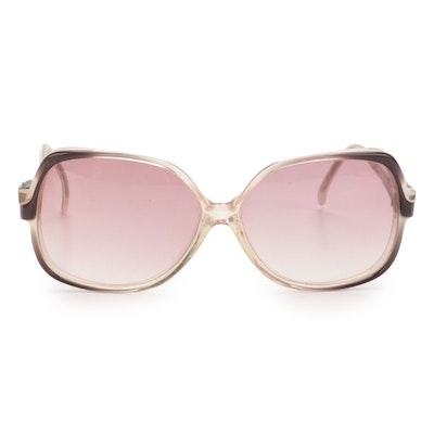 Balenciaga BB 0101 Oversized Sunglasses with Purple Gradient Lenses