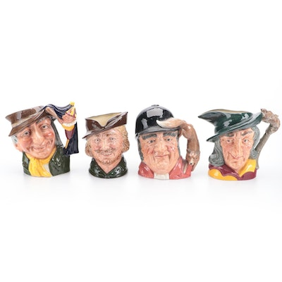 """Royal Doulton """"Robin Hood,"""" """"Pied Piper,"""" and More Character Toby Jugs"""