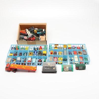 Matchbox Diecast Model Cars in Storage Case, 1960s-1970s