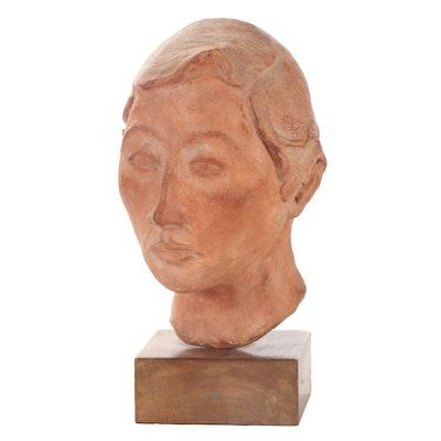Asian Cast Ceramic Bust