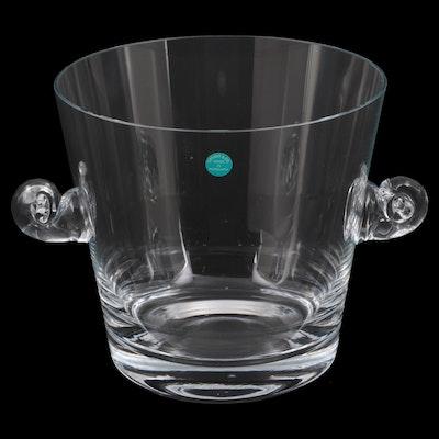 Tiffany & Co. Scroll Handled Crystal Ice Bucket