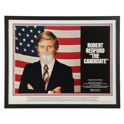 """""""The Candidate"""" Letterpress Halftone Half Sheet Movie Poster, 1972"""