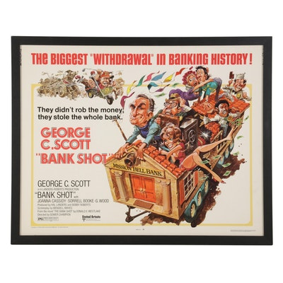 """Bank Shot"" Letterpress Halftone Half Sheet Movie Poster, 1974"