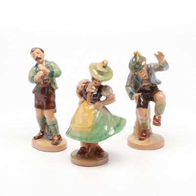 Hand-Painted Dutch Themed Ceramic Figurines