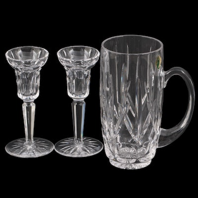 Waterford Single Light Candlesticks with Pitcher