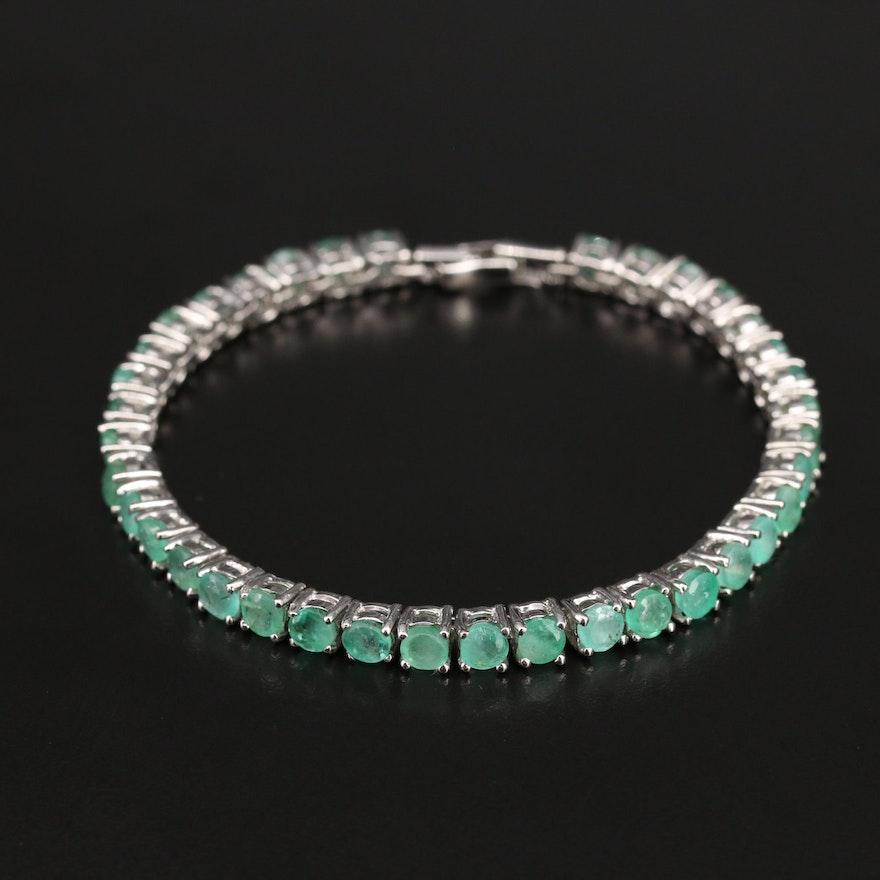 Sterling Enamel Line Bracelet