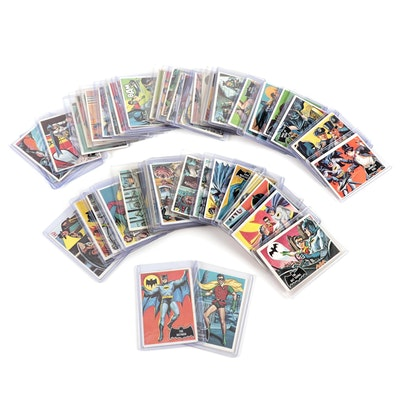 """1966 Batman Topps Trading Card Complete Set with #1 """"The Batman"""""""