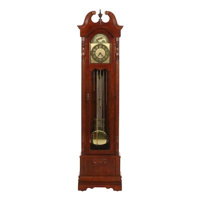 Ridgeway Federal Style Mahogany Grandfather Clock, Late 20th Century