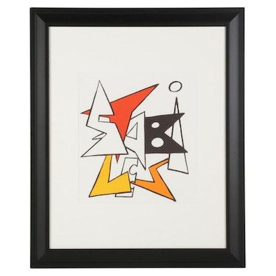 """Alexander Calder Color Lithograph Cover for """"Derrière le Miroir,"""" 1963"""