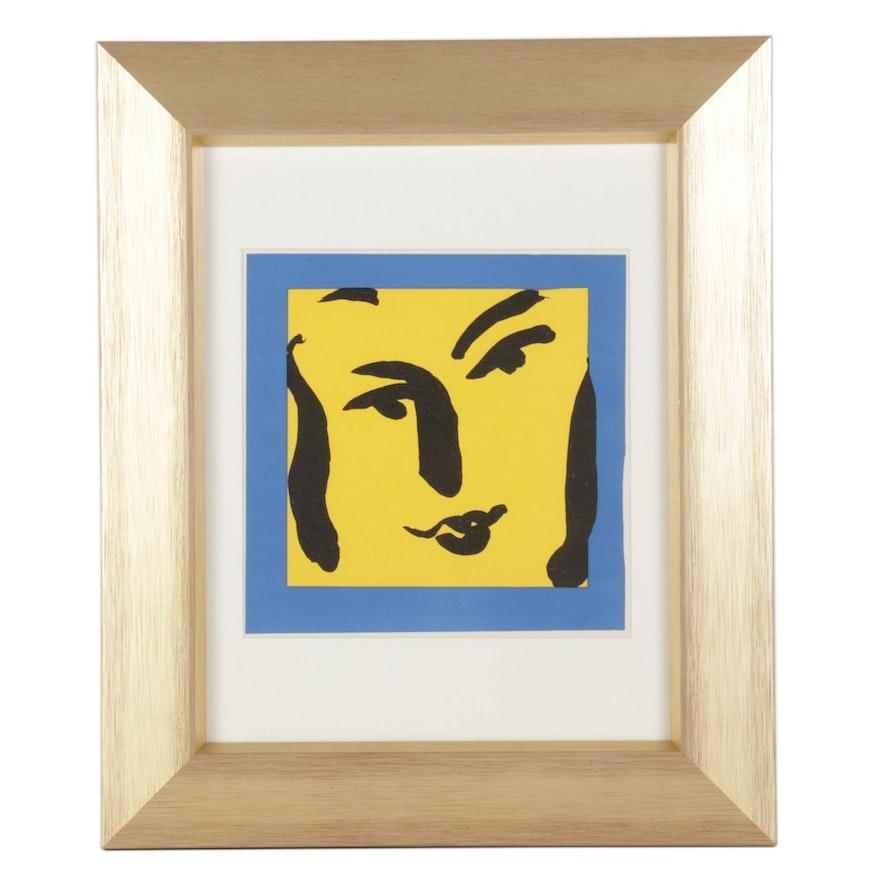"Henri Matisse Color Lithograph Cover ""Portraits par Henri Matisse,"" 1954"
