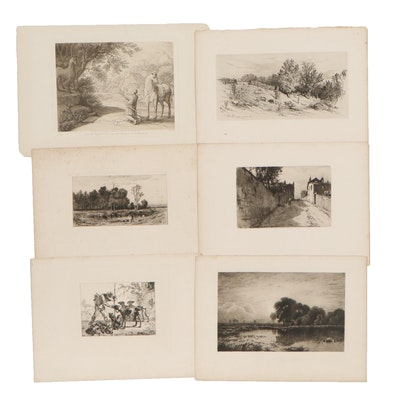 """Landscape Engravings Including """"A Fallow Field"""""""