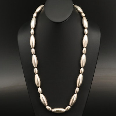 Sterling Silver Thai Beaded Necklace