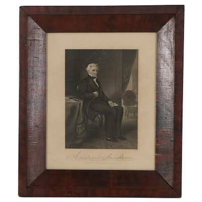 """Engraving After Alonzo Chappel """"Andrew Jackson,"""" Early 20th Century"""