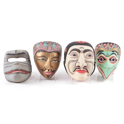 Balinese and Javanese Topeng Masks, Indonesia