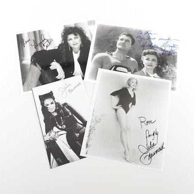 Movie Super Heroes Julie Newmar, Lynda Carter, and Phyllis Coates Signed Prints