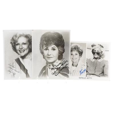"Betty White, Bea Arthur, Estelle Getty Signed ""The Golden Girls"" Photo Prints"