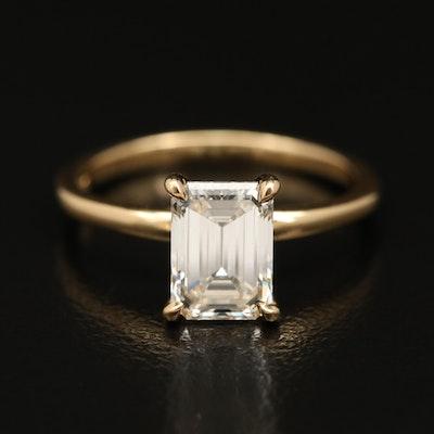 14K 1.54 CT Diamond Solitaire Ring with IGI Report