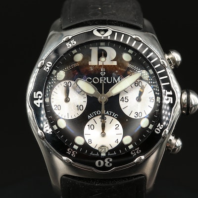 Corum Bubble Chronograph Stainless Steel Automatic Wristwatch