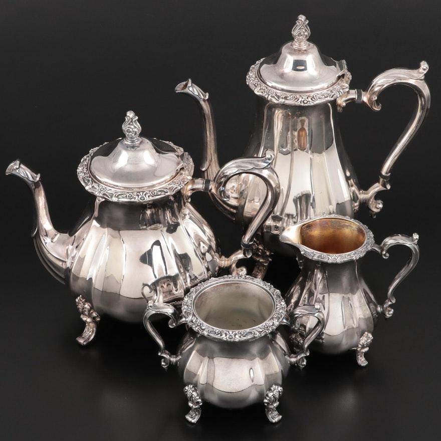 "International Silver Co. ""Countess"" Silver Plate Coffee and Tea Set"