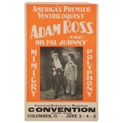 Adam Ross Ventriloquist Letterpress Halftone Convention Poster