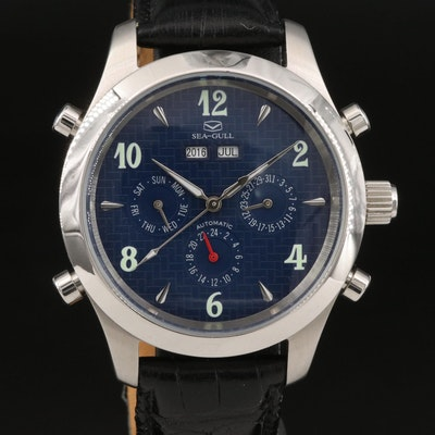 Sea - Gull Perpetual Calendar Stainless Steel Automatic Wristwatch