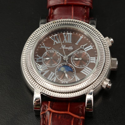 Romilly Stainless Steel Multifunction Automatic Wristwatch