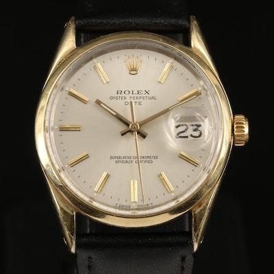 1973 Rolex Date Gold Shell Automatic Wristwatch