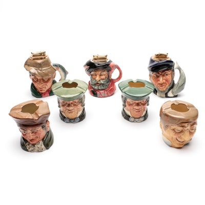 Royal Doulton Stoneware Toby Jug Table Top Lighters and Ashtrays
