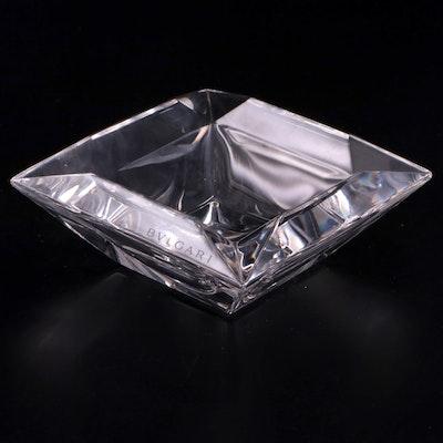 BVLGARI  Rosenthal Crystal Bowl