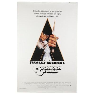 """A Clockwork Orange"" Offset Lithograph One Sheet Movie Poster, 1970s"