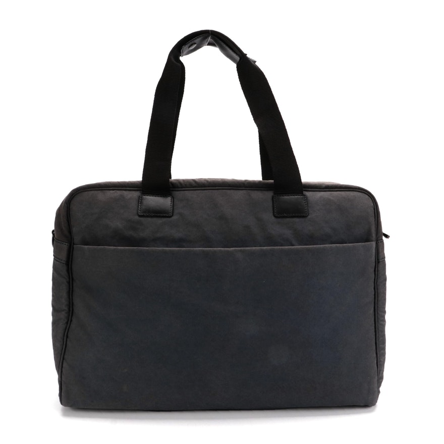 Lo & Sons Cambridge Carry-On Bag with Leather Trim and Includes Shoulder Strap