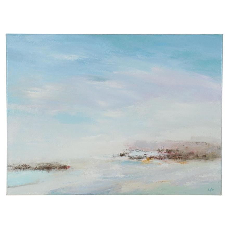 Lee Hafer Landscape Acrylic Painting, 21st Century