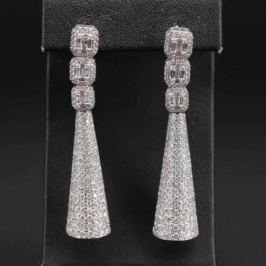 14K 5.89 CTW Diamond Geometric Drop Earrings