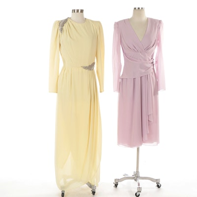 Bead Embellished and Faux Wrap Occasion Dresses