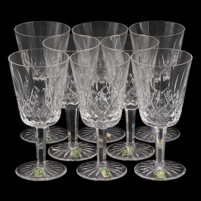 """Waterford """"Lismore"""" Crystal Water Goblets, Mid to Late 20th Century"""