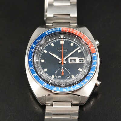 1973 Seiko Speed Timer Chronograph Stainless Steel Automatic Wristwatch