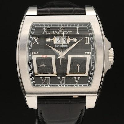 Jacot Triple Calendar Stainless Steel Automatic Wristwatch