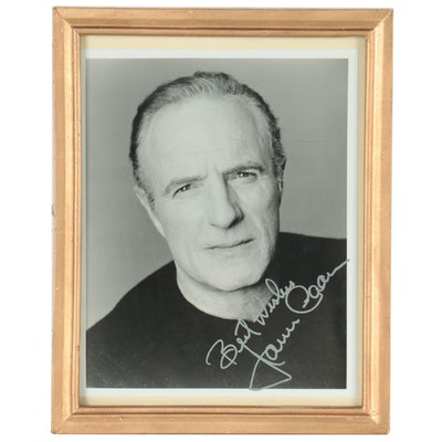 Black-and-White Digital Photograph of James Caan with Facsimile Signature