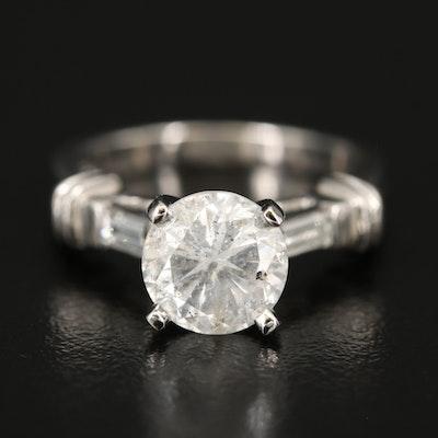Platinum 2.30 CTW Diamond Ring
