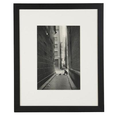 """Henri Cartier-Bresson Rotogravure """"New York, 1947, Solitude Downtown,"""" 1952"""