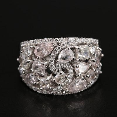 18K 3.02 CTW Diamond Cluster Ring