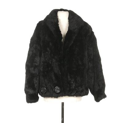 Mademoiselle Black Rabbit Fur Coat