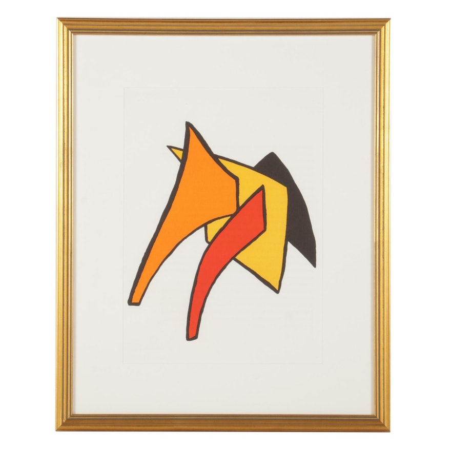 """Alexander Calder Color Lithograph for """"Derrière le Miroir,"""" 1963"""