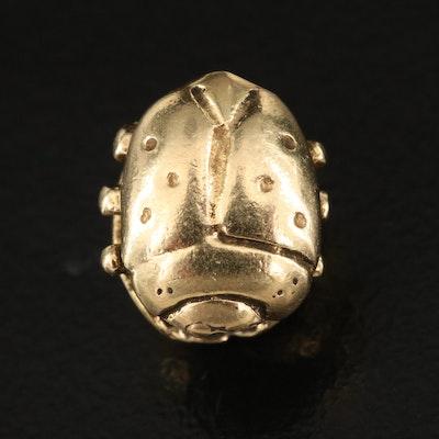 """Trollbeads 18K """"Ladybug"""" Bead"""